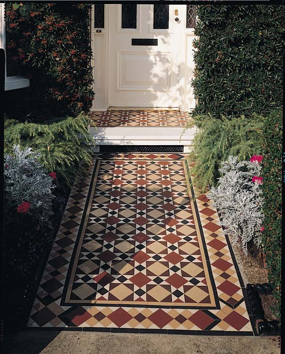 Original Style - Victorian Floor Tiles - Lambeth pattern with modified Wordsworth border